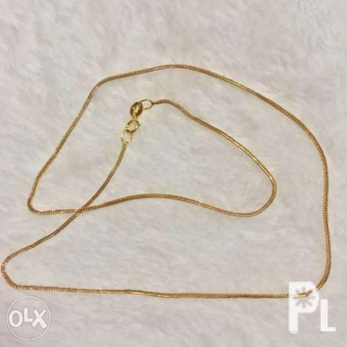 18k Gold Chain Foxtail 15 inches