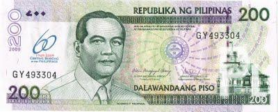 200 peso bill with central bank of the philippines logo ...