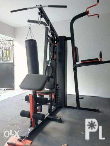 Station multi home gym with boxing punching bag gym equipment
