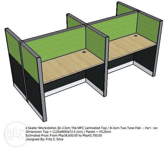 3d design workstation cubicle partition office furniture for Office table 3d design