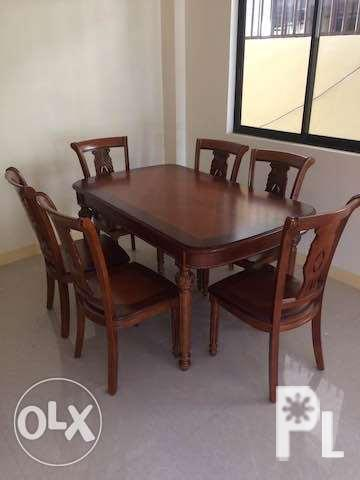 6 Seater Dining Table Set High Quality Wood