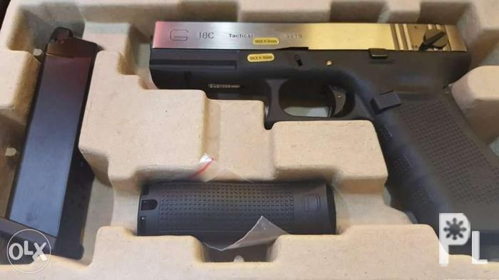 Airsoft We Glock 18c Gen 4 Silver Slide Airsoft Rush For Sale In
