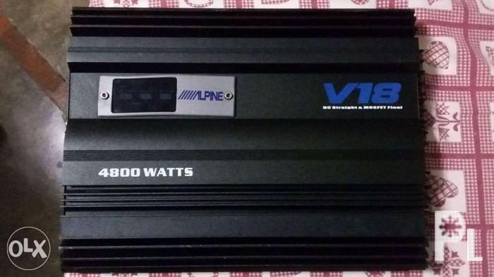 alpine v18 car amplifier slightly used and HiD Xenon