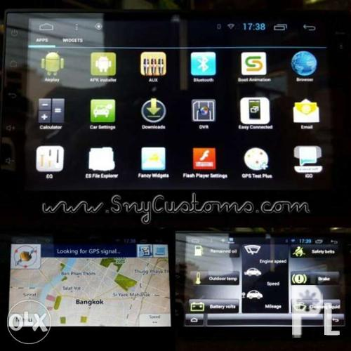 Android hd Car stereo LCD GPS Bluetooth Waze mirrorlink 2 Din wrnty