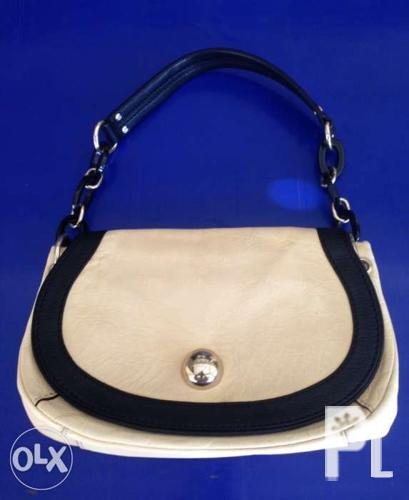 Auth Kate Spade Leather Shoulder Bag not Coach Lacoste
