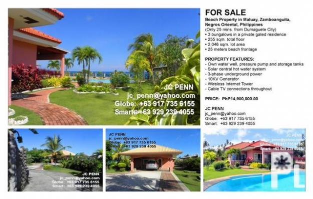 Beach Property Near Dumaguete City Philippines For Sale