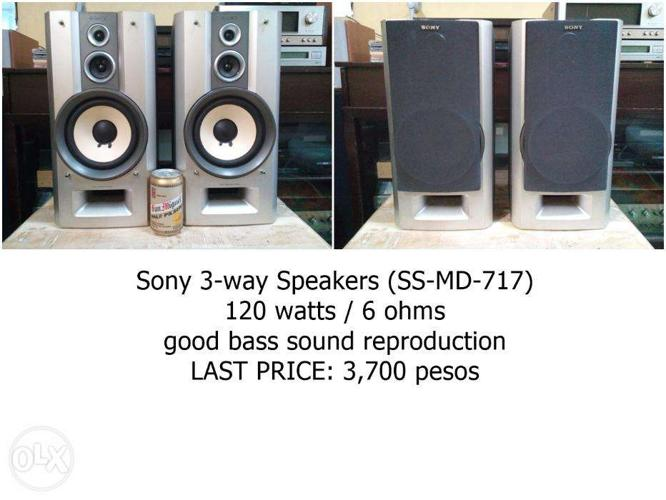 Bookshelf Speakers With Good Sounding Bass By Sony For
