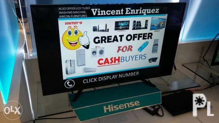 Brand new hisense 50 inch led tv 50d36 also available