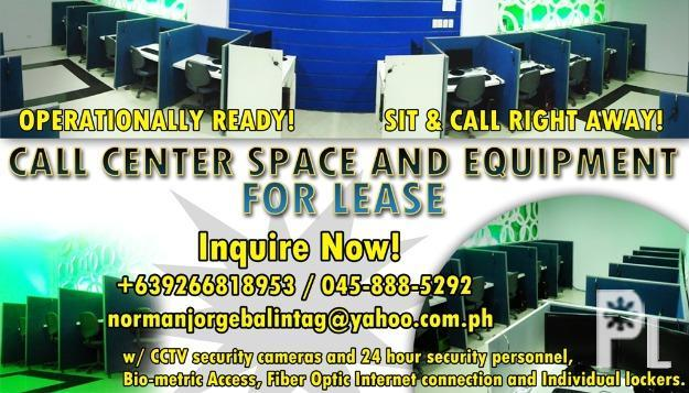 Call Center Space and Equipment for Lease ? Angeles