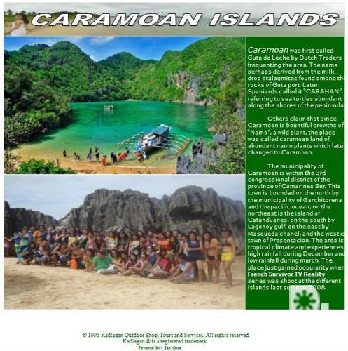 CARAMOAN - KADLAGAN Tours and Services. ? Naga City