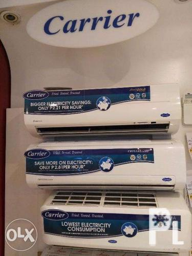 Carrier Split Type Aircon Xpower Gold 2 and Crystal