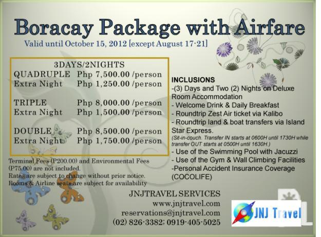 Boracay Packages With Airfare 2013 For Couples