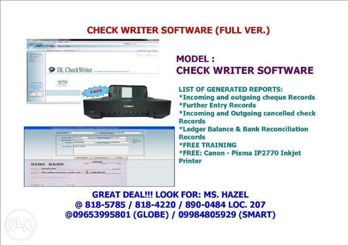 Check Writer Software