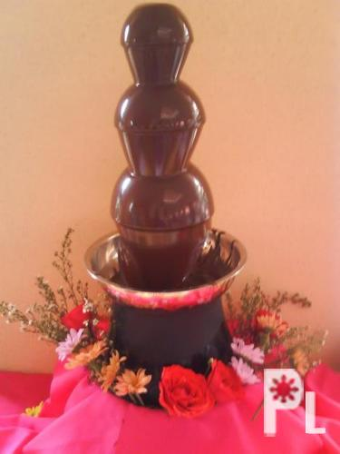 Chocolate fountain, Candy Buffet, Molded chocolates