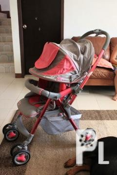 COMBI baby stroller pink with gray Excellent Condition!