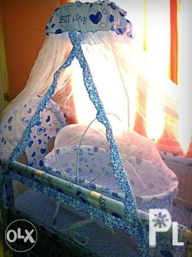 crib with mosquito net and duyan