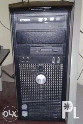 Dell Optiplex 360 Desktop Computer with Monitor and Printer