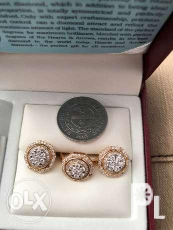 Diamond Ring and Earring Set