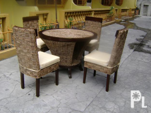 Dining Abaca Furniture W Wood Round Table For Sale In Angeles City Central