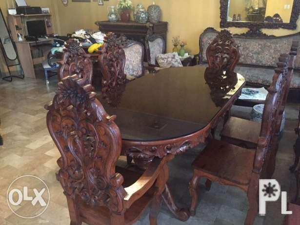 Dining set pure narra
