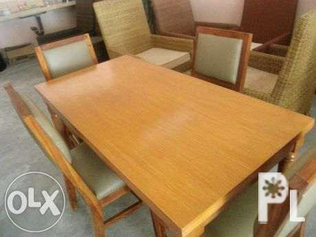 Dining Set Teak Wood Or Mahogany For Sale In Angeles City
