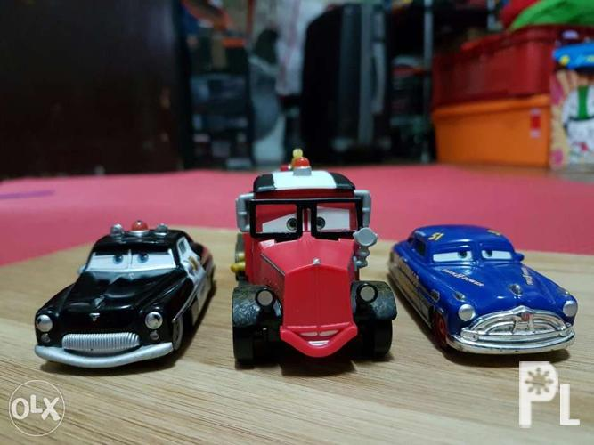 disney cars diecast lot of 3 sheriff mayday doc hudson for sale