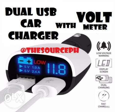 Dual USB Charger and Volt Meter