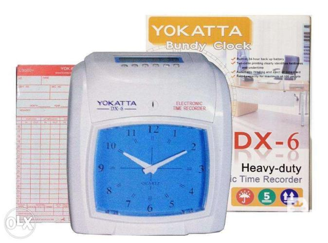 DX-6 Punch card Machines Time attendance Clock