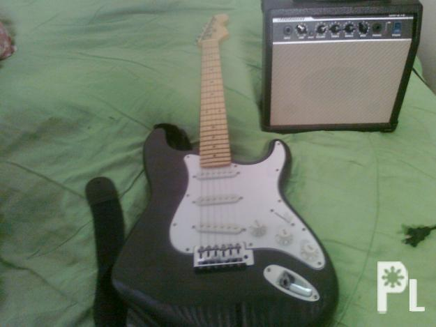 Electric Guitar With Amplifier Complete Set Fernando Stratocaster