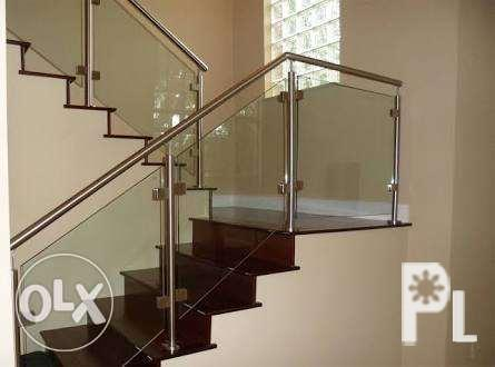 Elegant glass railings and staircase home or office fixtures for sale in quezon city national Home furniture quezon city