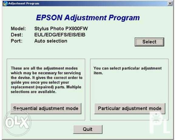 Epson Reset Resetter L120 L1300 L210 L220 Lseries and Canon Gseries