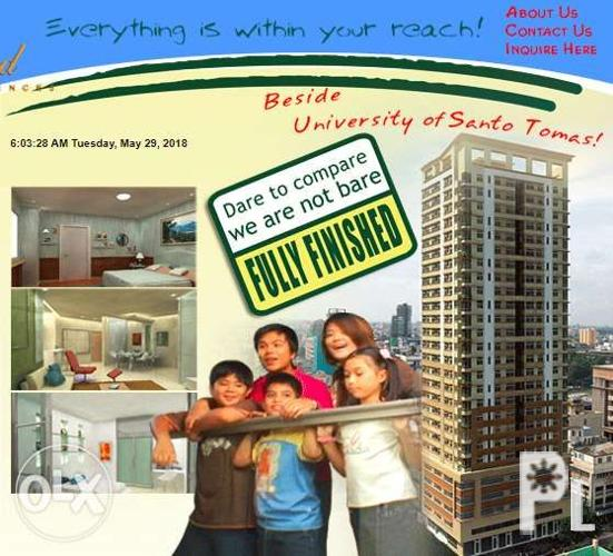 Espana Grand Residences Condominium in UBELT near UST