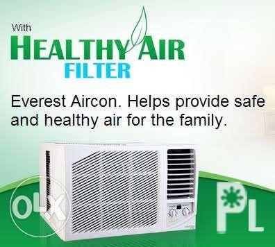 Everest Window Type Aircon Manual and Remote