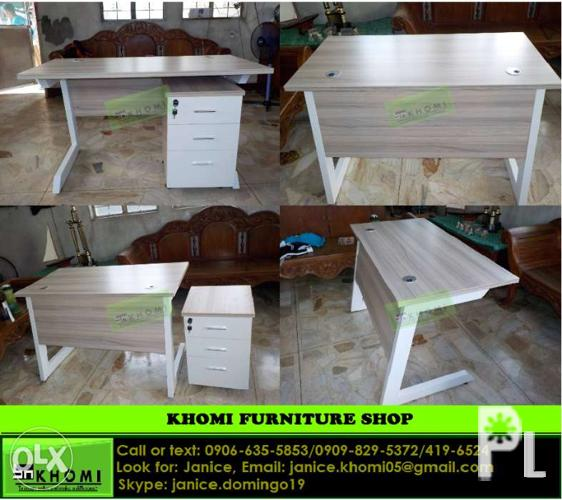 Executive Table Oak Color Office Furniture Partition For Sale In Quezon City National