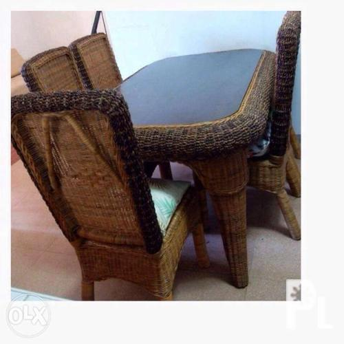 ExportQuality Rattan Dining 6seater Set indoor or