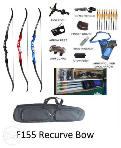 F155 Recurve bow package