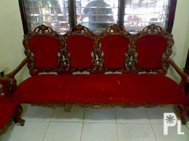 For Sale 2nd Hand Narra Wood Carving Sala Set For Sale In Catmon Central Visayas Classified