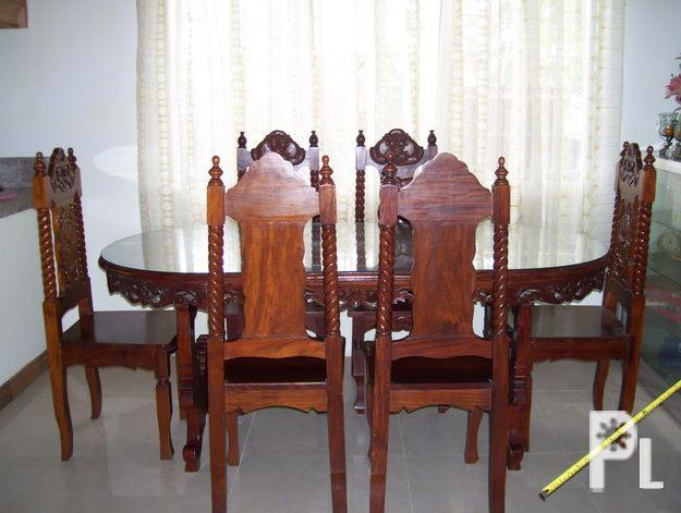 FOR SALE DINING TABLE SET SOLID NARRA PHP 25 For S