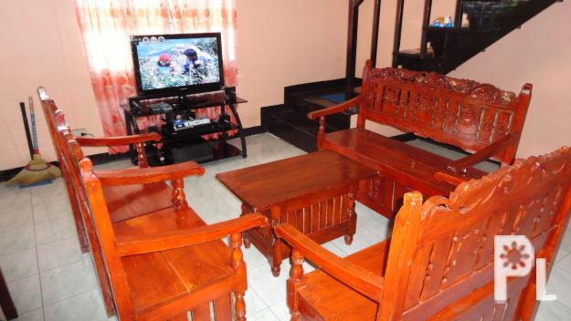 For sale wood sala set p8 000 angono for sale in for Sala set for sale