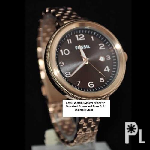 are fossil gold watches real gold