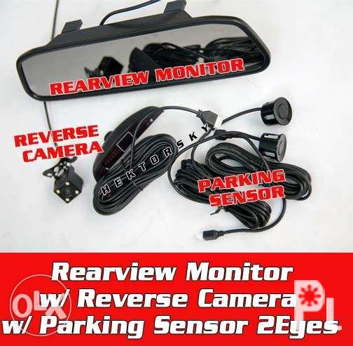 Free install - Rear view monitor with camera and parking sensor for