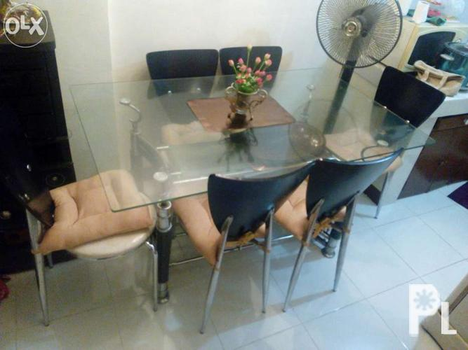 Glass Table Dining Set For Sale In Quezon City National Capital Region Class