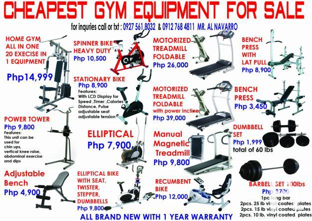 Gym Equipent Treadmill Dumbbell Stationary Bike Bench