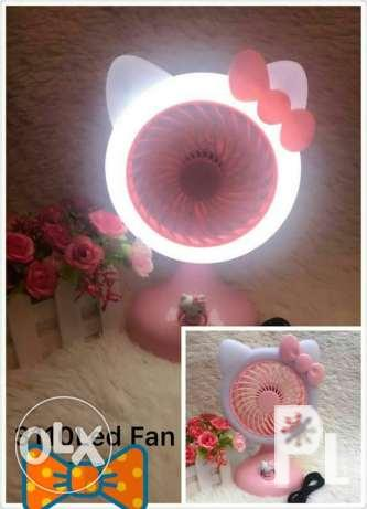 Hello Kitty Led Lamp and Fan