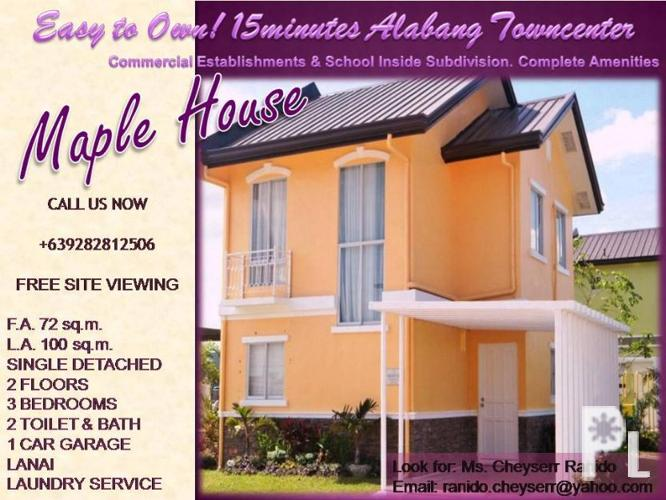 House and lot for sale in laguna binan maple binan for for Laguna house for sale