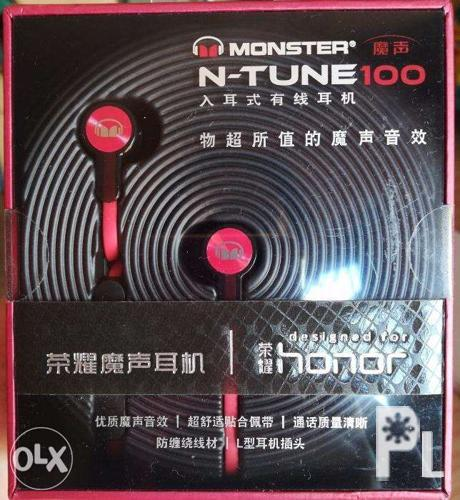 HUAWEI Ntune 100 Honour Monster Inear Earphones