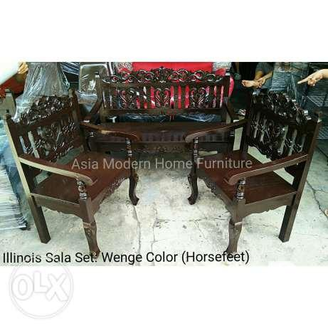 Illinois Wooden Sala Set 5pcs 3211 Gmelina Wood For Sale In