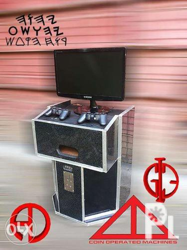 insert coin arcade game console box half design for Sale in