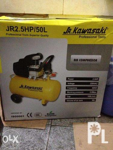 Kawasaki portable air compressor 50L Capacity 2 5HP with