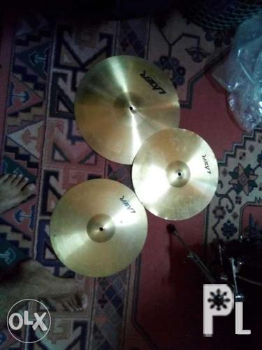 Lazer high hat pair and crash cymbal